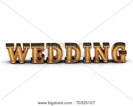 Wedding Inscription Large Golden Letter