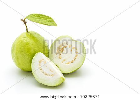 Guava On White Background.