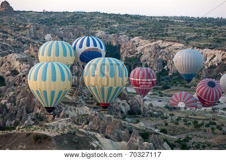 Cappadocia Turkey.The greatest tourist attraction of Cappadocia the flight with the balloon