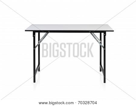 Steel Table With White Top
