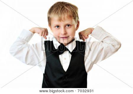 Elegant Boy Showing  Muscular