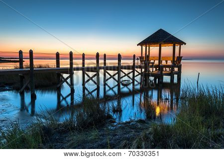 North Carolina Coastal Gazebo Sunset