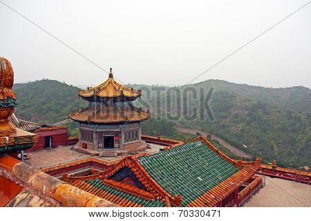Roof Of Putuo Zongcheng Monastery In Chengde, China