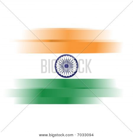 Abstract Flag Of India On White Background