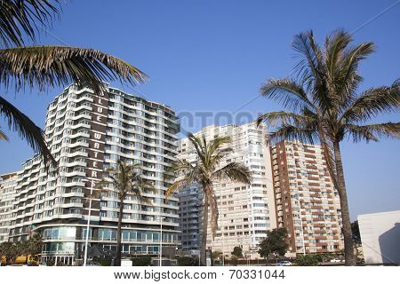 View Of Golden Mile Beachfront Hotels, Durban South Africa