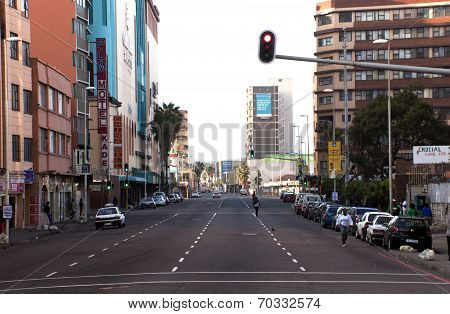 Early Morning View Of Smith Street, Durban South Africa