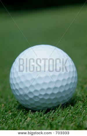 Golf-ball on green