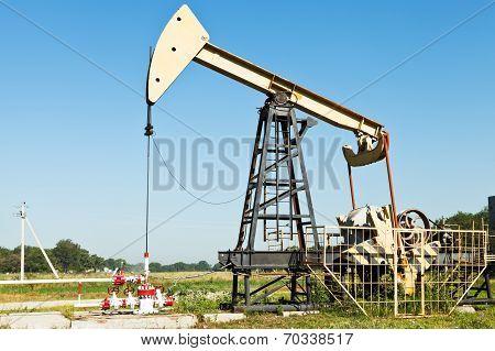 Pumpjack Pumps Oil In Kuban Region, Russia