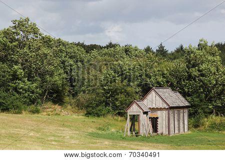 Viking stave church of Moesgaard