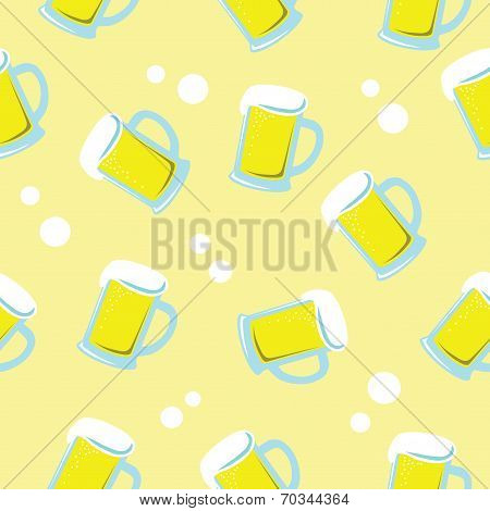 seamless background of beer in glass