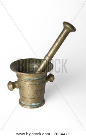 Bronze mortar