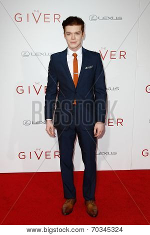 NEW YORK-AUG 11: Actor Cameron Monaghan attends the premiere of