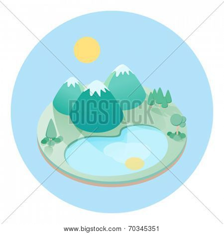 Isometric Nature View