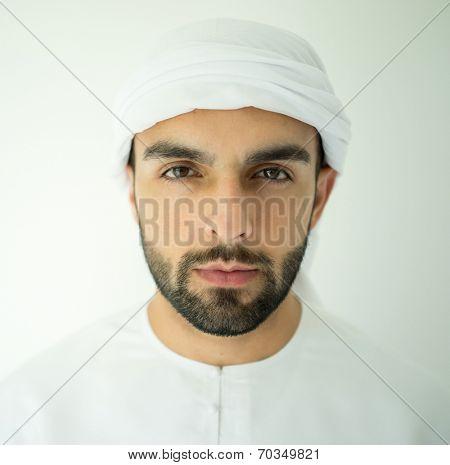 Arabic young man posing