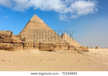 The Great And 2nd Pyramids At Giza, Cairo