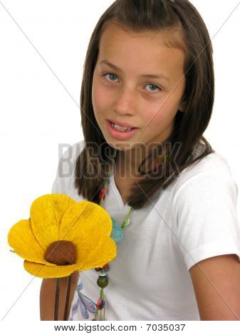 Girl With One Flower