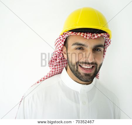 Arabic young architect posing