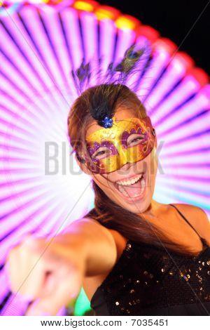 Santa Cruz De Tenerife Carnival: Party Woman In Costume