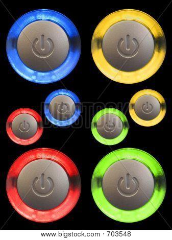 Botones de encendido