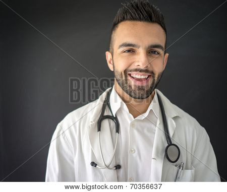 Confident young medical doctor