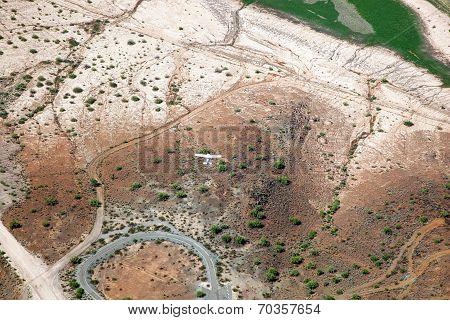 Flying Over Desert