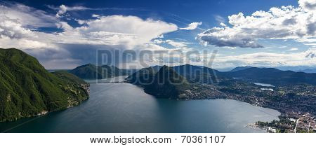 Panorama Of Lake Lugano