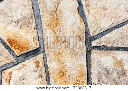 Close-up Of Stone Wall Texture