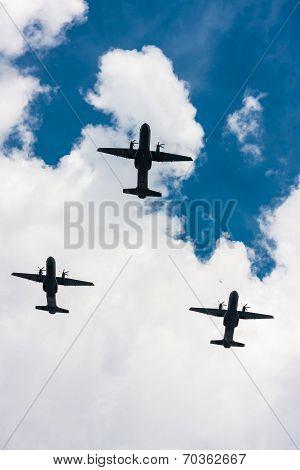 C-295 M Casa Planes Over Warsaw