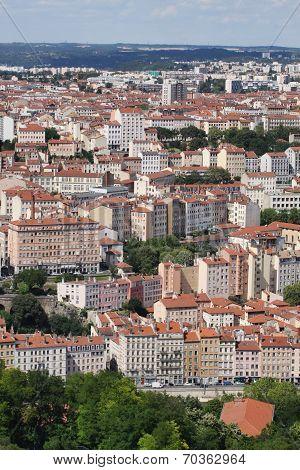 View of la Croix Rousse in Lyon