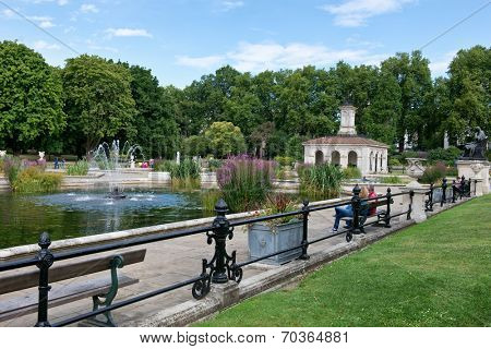 The Italian Gardens at Hyde Park in London, UK