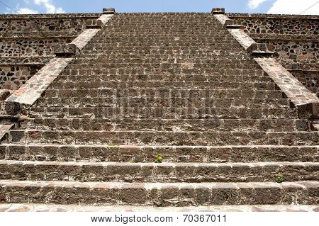 Stairs Of An Aztec Pyramid