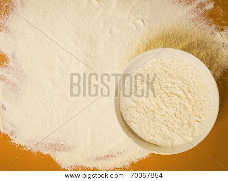 Preparation For Baking, Flour As Background