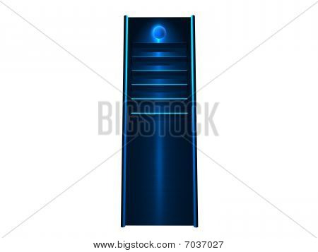 Blue 19inch Server tower