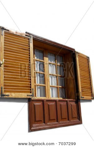 the window with shutter