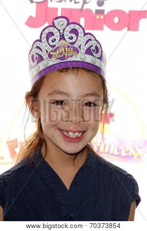 LOS ANGELES - AUG 16:  Aubrey Anderson-Emmons,  at the Disney Junior's Pirate and Princess: Power of Doing Good at Avalon on August 16, 2014 in Los Angeles, CA