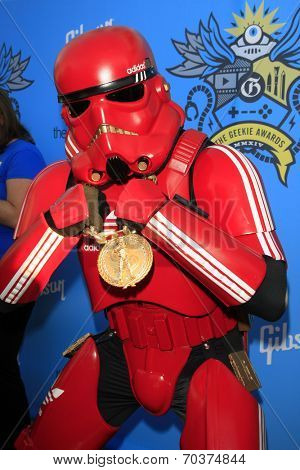 LOS ANGELES - AUG 17:  Hiphop Stormtrooper at the 2nd Annual Geeky Awards at Avalon on August 17, 2014 in Los Angeles, CA