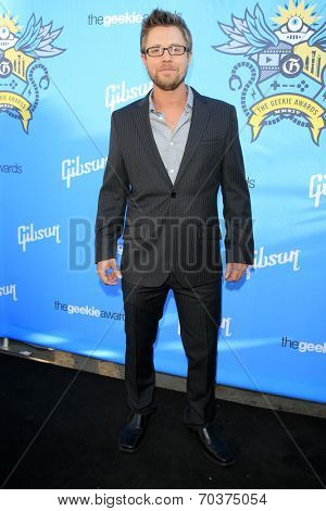 LOS ANGELES - AUG 17:  Kaj Erik Eriksen at the 2nd Annual Geeky Awards at Avalon on August 17, 2014 in Los Angeles, CA