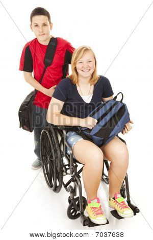 Disabled Student And Brother