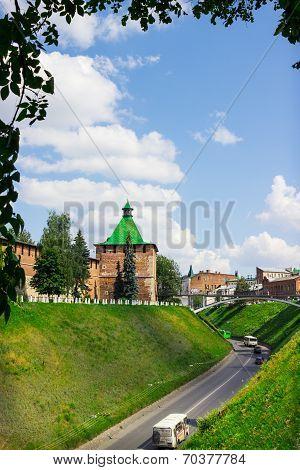 Russia, Nizhny Novgorod - Aug 06, 2014: The Photographs Show The Tower Of Nizhny Novgorod Kremlin