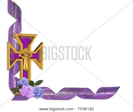 Easter gold cross border