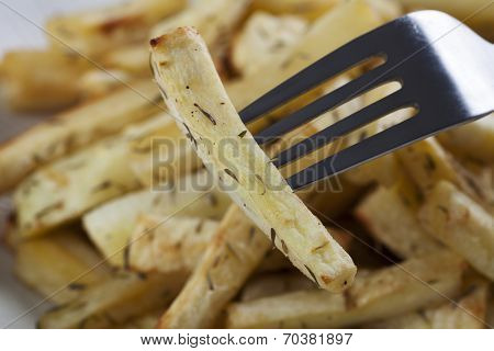 Close Up Roasted Parsnip