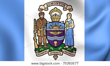 Flag Of Edmonton, Canada.