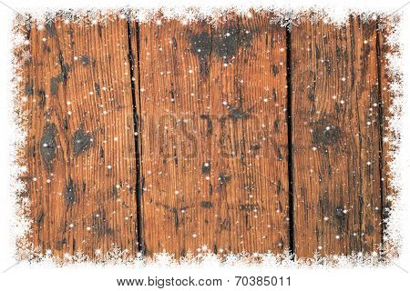 Old Wooden Christmas Background.