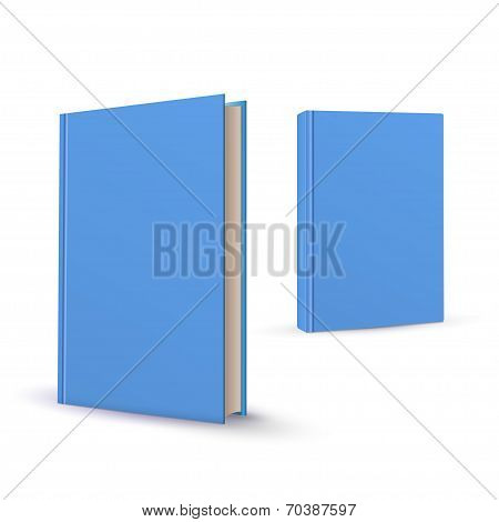 realistic book isolated on the white background