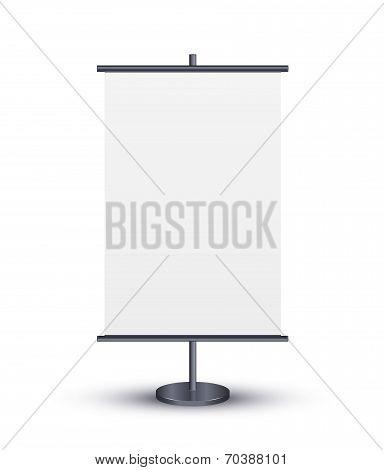 Outdoor blank billboards
