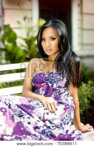 Portrait Of Asian Young Beautyful Girl