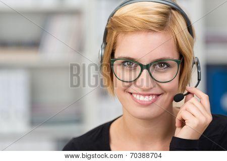 Smiling Friendly Client Services Assistant