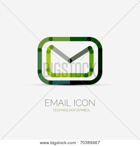 Vector email icon company logo design, business symbol concept, minimal line style