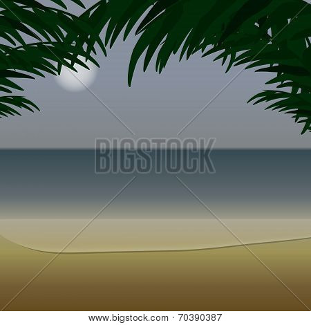 Ocean view from the coast