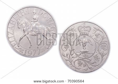 British Monarch Silver Jubilee Coin.